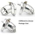 New lock With Arc-shaped Ring 45mm*33mm Male Chastity Device Adult Cock Cage Sex Toy Stainless Steel Chastity Belt Sex Product
