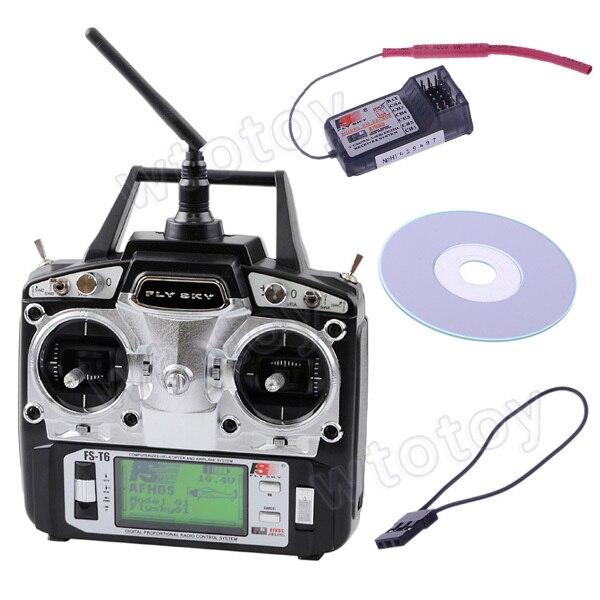Flysky 2.4G AFHDS 6 Channel Radio System FS-T6 Transmitter Model 2 T6 Remote Control Hot Selling flysky fs t6 6ch 2 4ghz transmitter