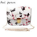kai yunon Women Butterfly Flower Printing Handbag Shoulder Bag Tote Messenger Bag Oct 10