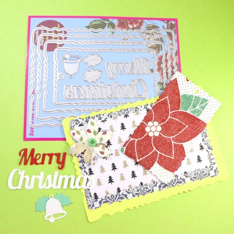 Überraschung Creation stanzformen Vintage Rahmen Frohe Weihnachten ...