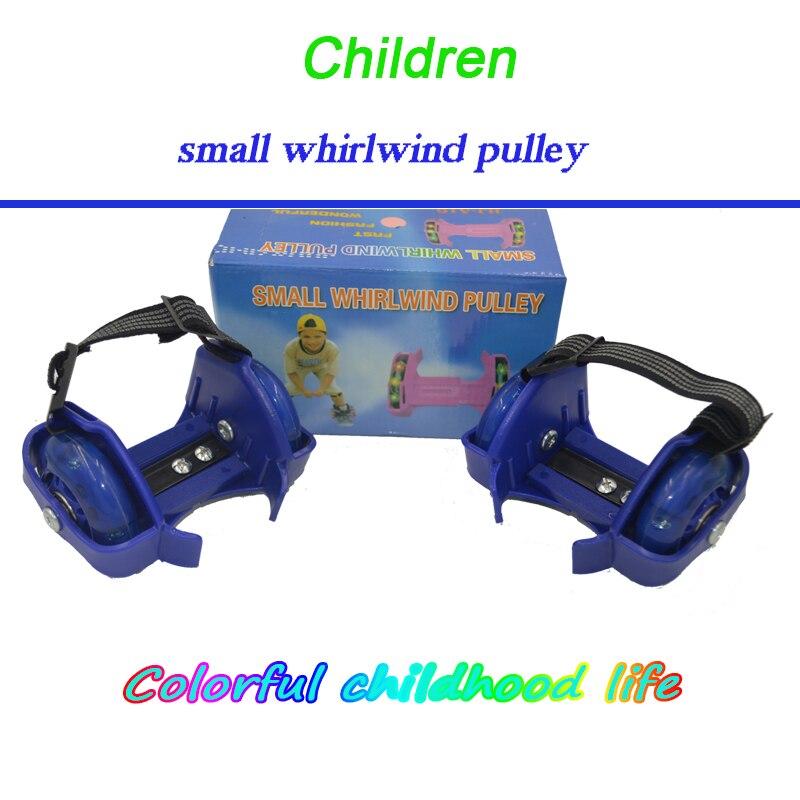 Children Sport Pulley Lighted Flashing Wheels Heel Skate Roller Skate Kids 4 Wheels Shoes Flashing Roller Skate Shoes