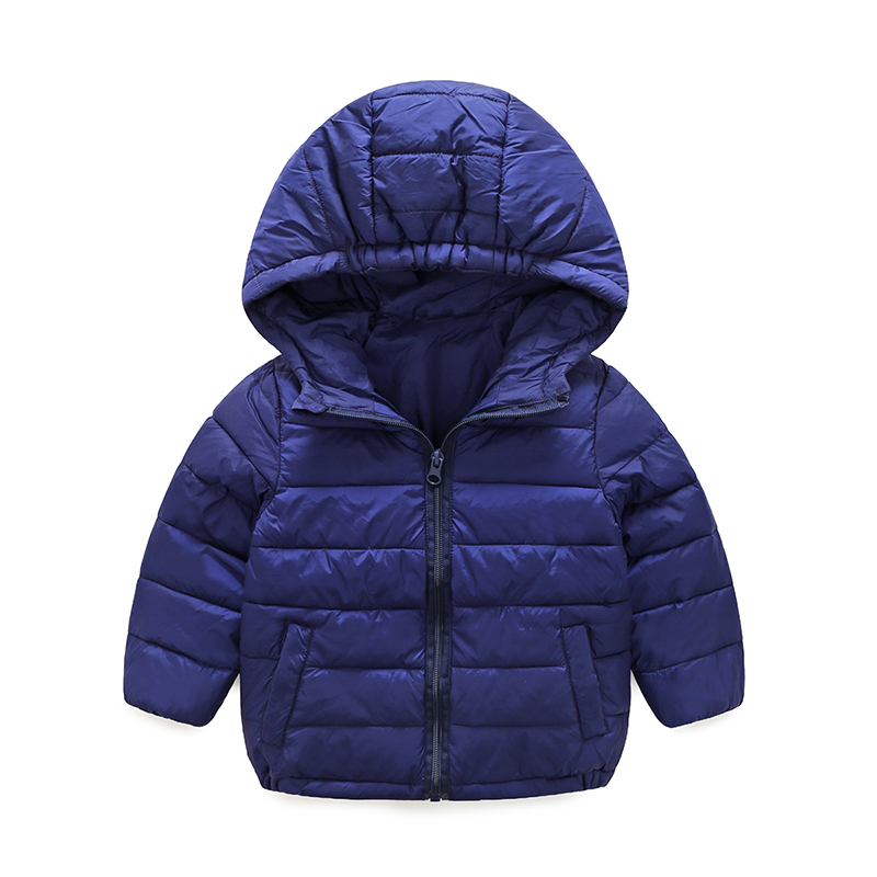 New fashion autumn winter hooded solid thick warm boys girls baby coat cotton down jacket small children's clothing outwear 1-5T 2016 short paragraph winter down thick jacket fashion girls boys cotton hooded coat fashion hildren s jacket warm outwear 16a12
