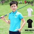 Одежда для игры в гольф PGM  футболка с короткими рукавами из дышащей ткани для детей и подростков  2019