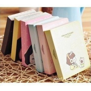 Mini Cute Cookyshop Girl Journal Notebook Fashion Kawaii Cartoon Lined Paper Diary Book Korean Stationery Free shipping 1410