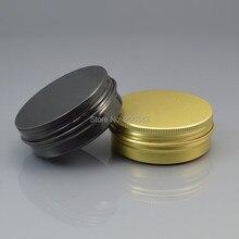 60 г черный/золото алюминиевые банки крем, косметический контейнер, контейнер для век, банка для крема, Косметические Jar, косметической упаковки