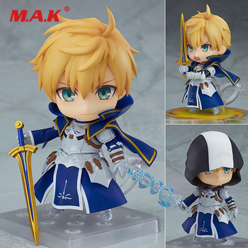 Mini Anime Figure Fate/Prototype Cute Q Version Mini Anime FiArthur Pendrago SABER Figure 10cm Toys for Children Collection Gift