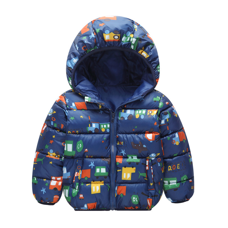 Baby Boys Kids Jacket Hood Animals Down Coat Winter Children Jacket Spring Fall Toddler Outerwear Baby Boys Jacket(China)