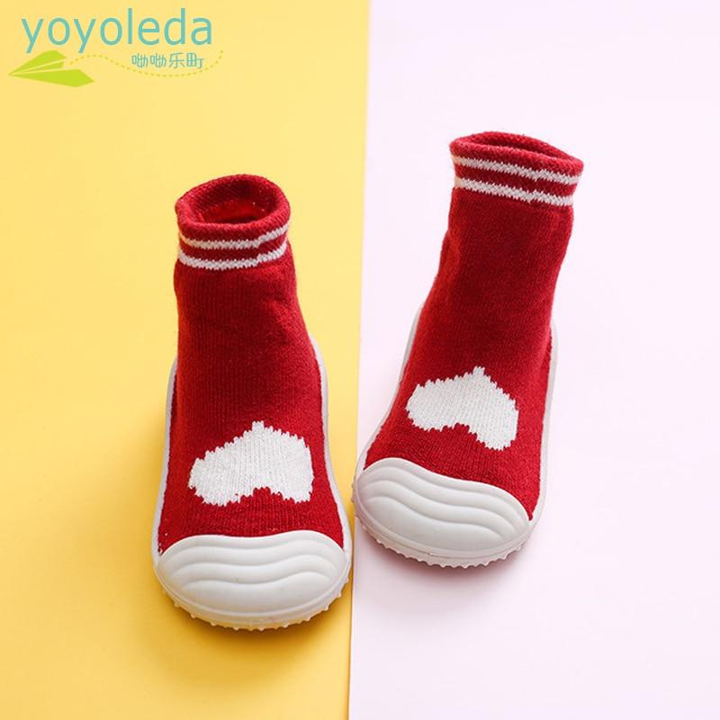 Newborn Foot Socks Baby Boys Girl Socks Shoes Rubber Soles Breathable Comfort Infant Shoes Kids Socks Baby's Booties