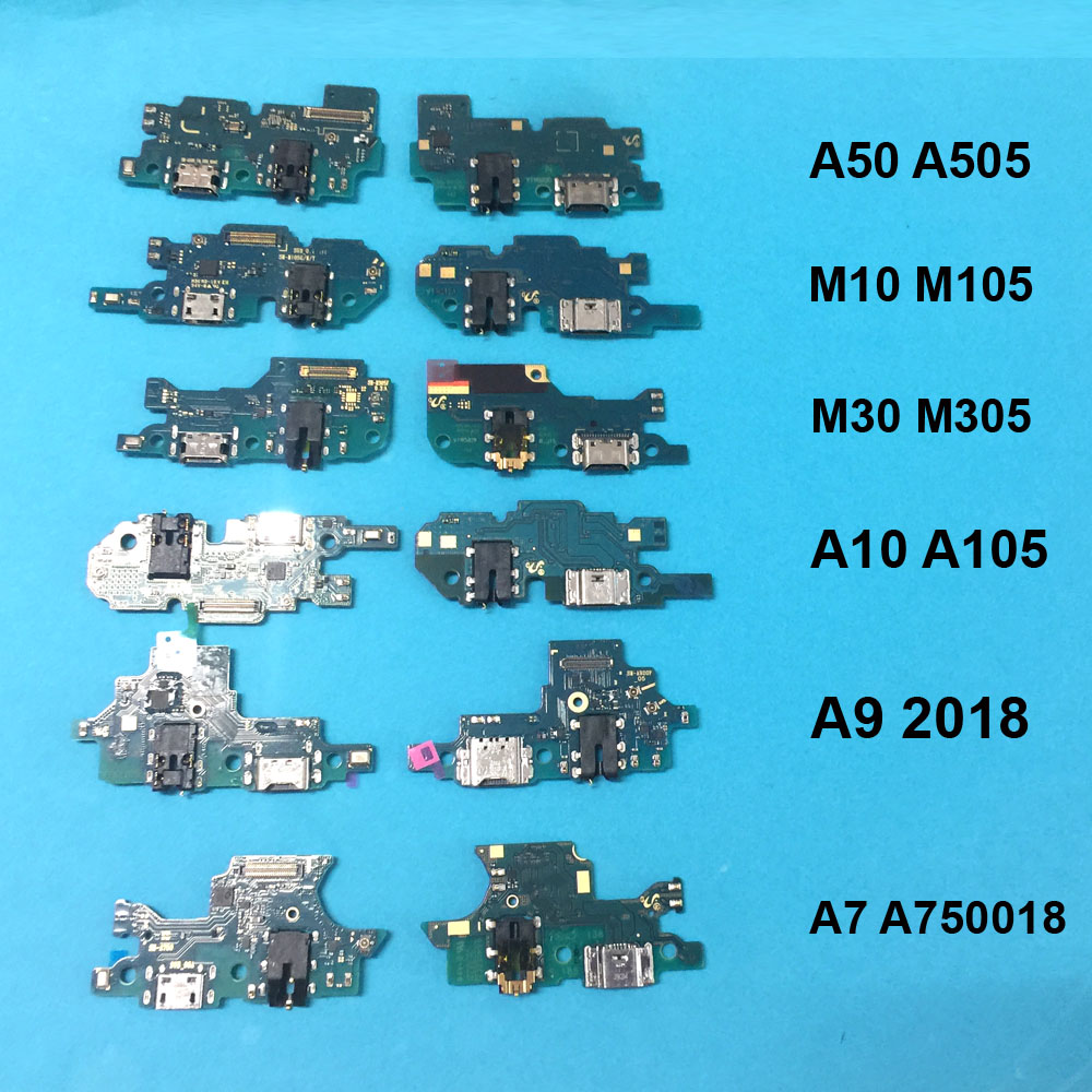 For Samsung A10 A105/A20 A205/A50 A505/A40 A405/M10/M20/M30/ A9 2018/ A7 2018 Charging Flex Cable Charger Power Port Socket Dock