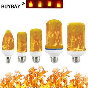 Image 1 - מלא דגם 3W 5W 7W 9W E27 E26 E14 E12 להבת הנורה 85 265V LED אפקט להבה אש אור נורות מהבהב אמולציה דקור LED מנורה