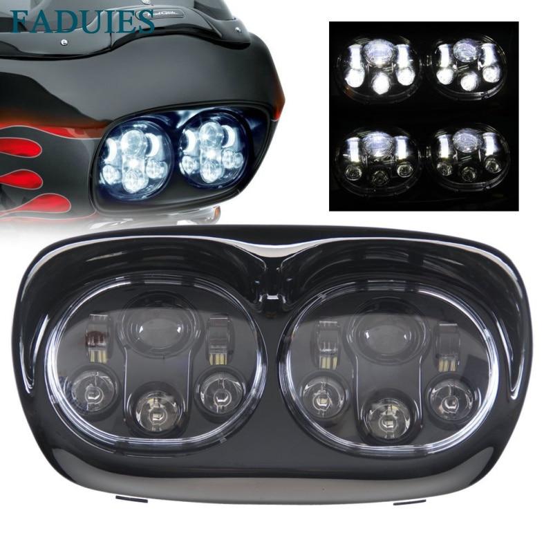 FADUIES 5.75 inch dual LED headlamps Harley Motorcycle 5 3/4 90W Led Motorcycle headlight For harley davidson Road Glide dual