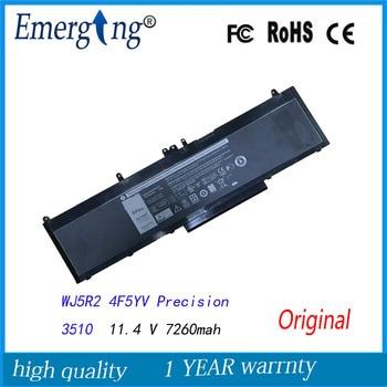 11.4 V 7260 Mah nouvelle batterie d'ordinateur portable d'origine pour Dell Precision 3510 WJ5R2 4F5YV|Batteries d'ordinateur portable|Ordinateur et bureautique -