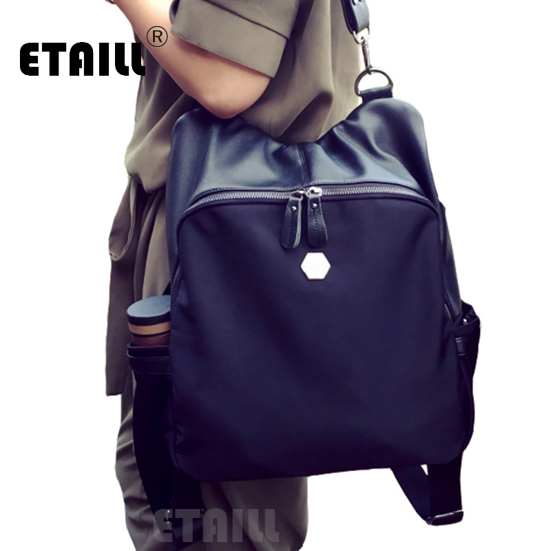 famous designer luxury brand backpack women pu leather backpack nylon black waterproof rucksacks. Black Bedroom Furniture Sets. Home Design Ideas