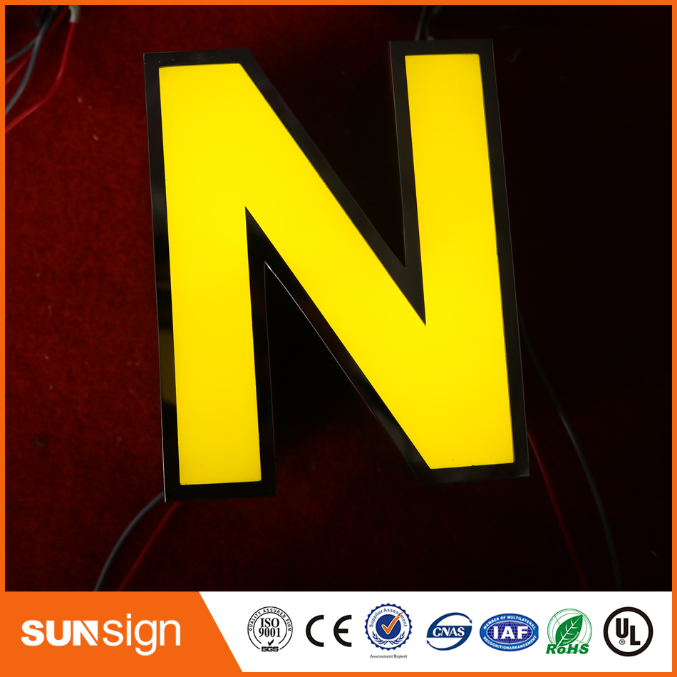 Outdoor Advertising Frontlit Letter Sign Metal Door Sign Boards