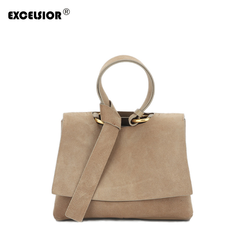 EXCELSIOR Free Shipping New Womens Bags Genuine Leather Handbags Large Capacity Shoulder Bag High Quality Bucket Totes BagEXCELSIOR Free Shipping New Womens Bags Genuine Leather Handbags Large Capacity Shoulder Bag High Quality Bucket Totes Bag