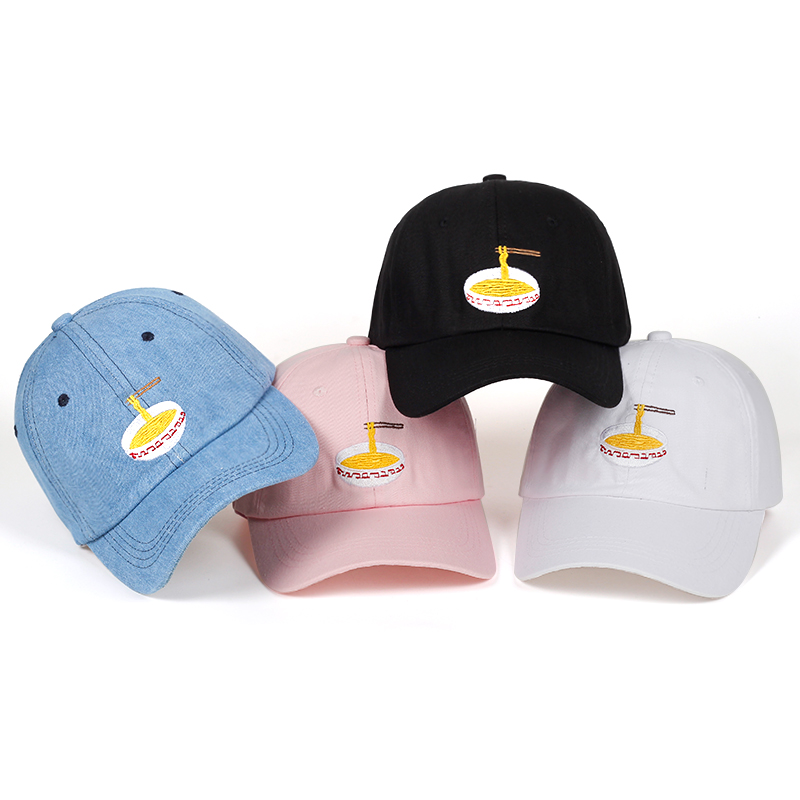 Adjustable Instant Noodles Embroidery Cotton   Baseball   hat Unisex   Baseball     Cap   Casual Dad Hats Girl Snapback   Cap   Bone Garros