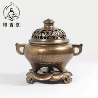 Bronze incense burner copper incense fragrance of sandalwood incense coil furnace furnace Taiwan and antique copper pieces