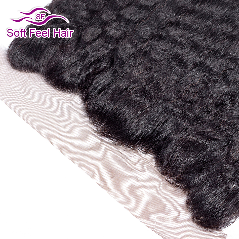 Image 4 - Soft Feel Hair Brazilian Kinky Straight Frontal 13x4 Ear To Ear Lace Frontal Closure Remy Human Hair Lace Frontal With Baby Hair-in Closures from Hair Extensions & Wigs