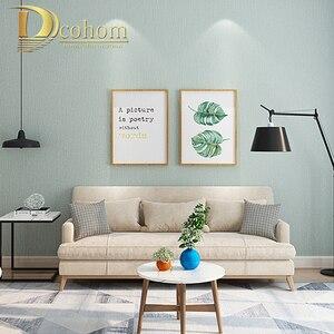 Image 5 - Katı Renk Keten Saman Duvar Kağıdı Koyu Gri Modern Oturma Odası Yatak Odası TV Arka Plan Duvar Ev Dekor dokunmamış Duvar kağıt rulolar