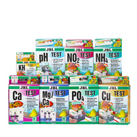 JBL water test kit PH NO2 NO3 Ca Mg Cu O2 CO2 PO4 NH4 GH KH Fe aquarium fresh maring water fish tank