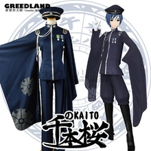 Hot Japan Anime Senbonzakura Vocaloid KAITO Cosplay Costume Women Men Army Uniform Halloween Party Custom-made