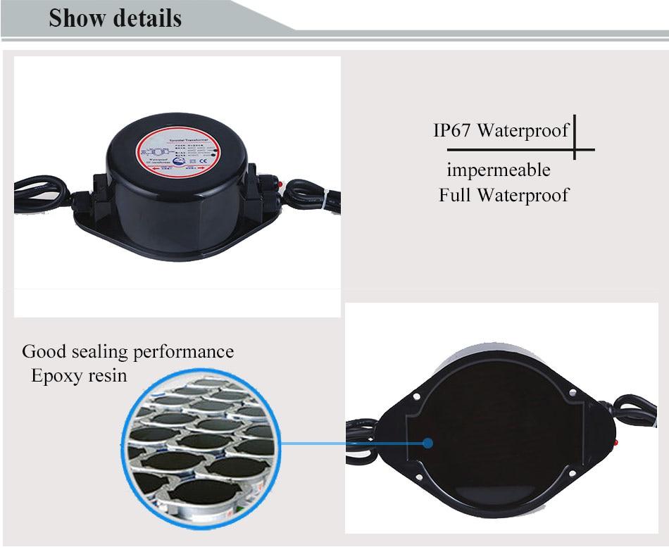 HOTOOK AC 12V napajanje IP67 vodootporni podvodni LED drajver 60W - Različiti rasvjetni pribor - Foto 5