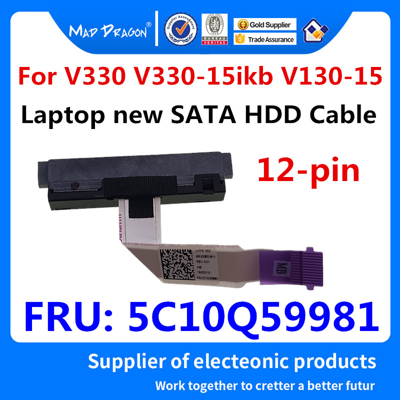 MAD DRAGON Brand New HDD Cable SATA HDD Hard Drive Cable Connector For Lenovo V330 V330-15ikb V130-15 5C10Q59981 450.0db03.0011