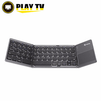 10pcs Portable Folding Russian Bluetooth Keyboard Wireless Rechargeable Foldable Touchpad for IOS/Android/Windows ipad Tablet