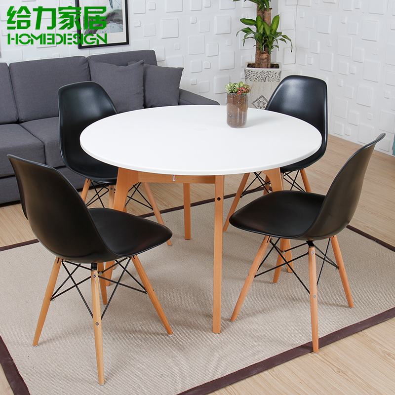 round table sub table restaurant fast fashion white minimalist ikea cafes to discuss nordic wood. Black Bedroom Furniture Sets. Home Design Ideas