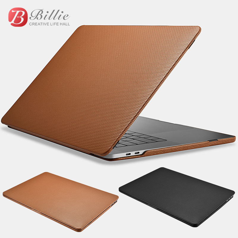 Genuine Leather Cover Case For MacBook Pro 15 inch New 2017 Case Sleeve Luxury Leisure Laptop Bags & Cases Protective Shell Cove-in Laptop Bags & Cases from Computer & Office