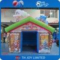 Oxford tejido casa de navidad inflable tienda/2016 navidad inflable refugio