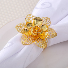 6PCS metal western napkin ring hotel set table wedding buckle