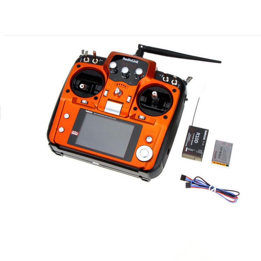 RadioLink AT10 remote controller  10CH Transmitter Remote Control System  w/R10D Receiver  for RC Airplane Helicopter radiolink at10 2 4g 10ch transmitter with r10d receiver