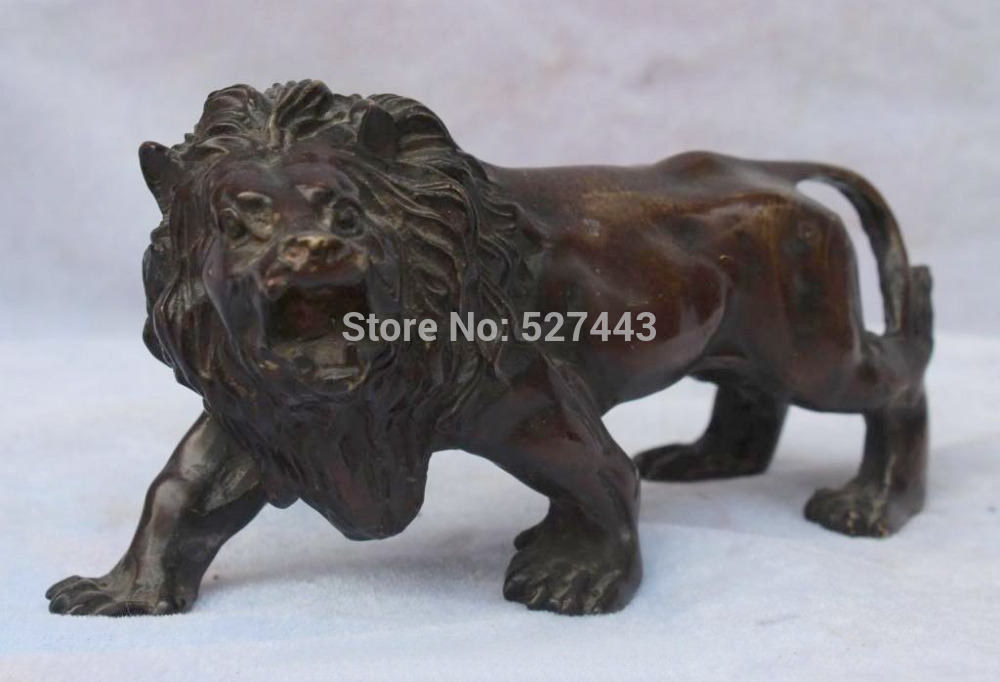 Wholesale Chinese Bronze Asian Africa Wild Lion Statue Sculptures