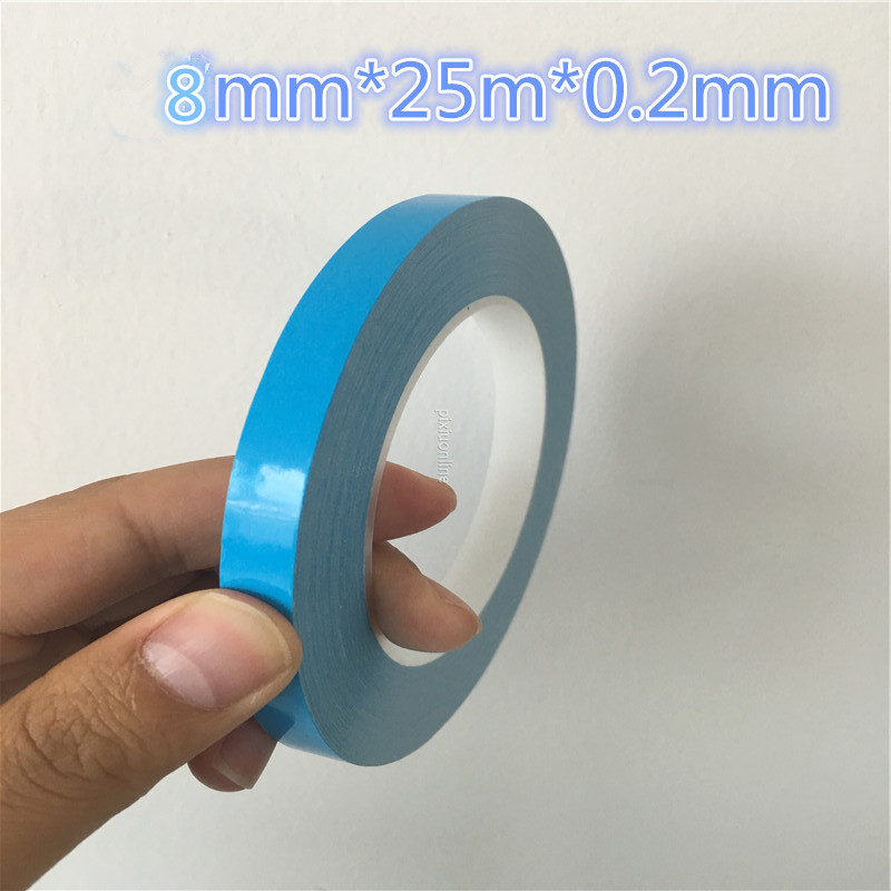 1rol DS203 Thermal Dissipation Adhesive Tape Blue Double Sided LED Adhesive Tape for IC Cooling Fin Fixed Free Shipping Russia 20pcs lot aluminum heatsink 14 14 6mm electronic chip radiator cooler w thermal double sided adhesive tape for ic 3d printer