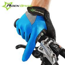 Pantalla Táctil ROCKBROS Antideslizante Transpirable Bicicleta de La Bici Bicicleta de Ciclo Completo Dedo Guantes Luvas Ciclismo Para Smartphone