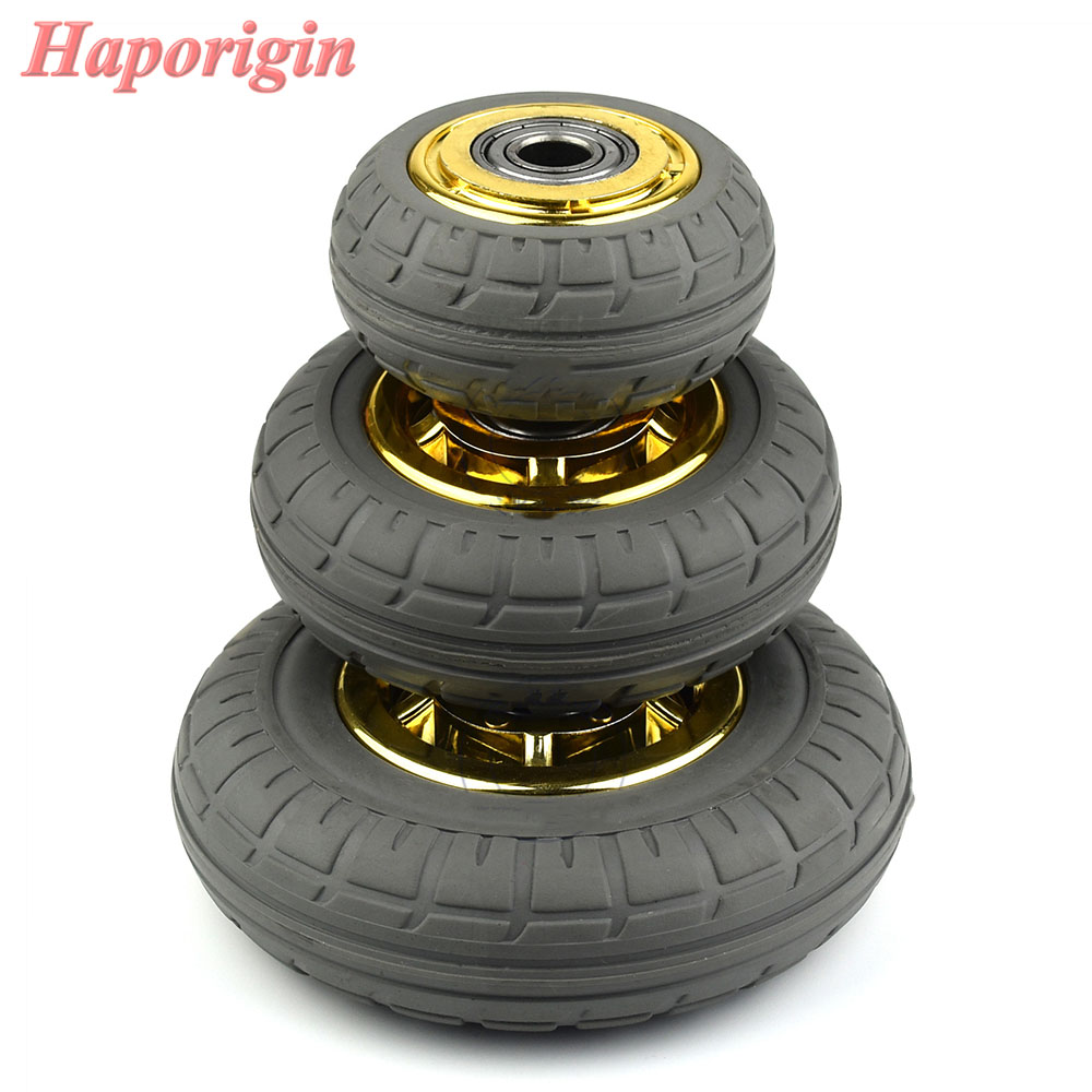 3'' Rubber Swivel Casters Industrial Castor Univeral Wheel Silence Rolling Caster Shelf Bearing Wheels Trolleys Hand Cart Pulley