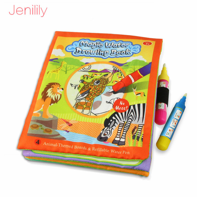 4 Styles Children Magic Water Drawing Book Coloring Book Doodle With Magic Pen Painting Drawing Board Learning Toys for Kids 2