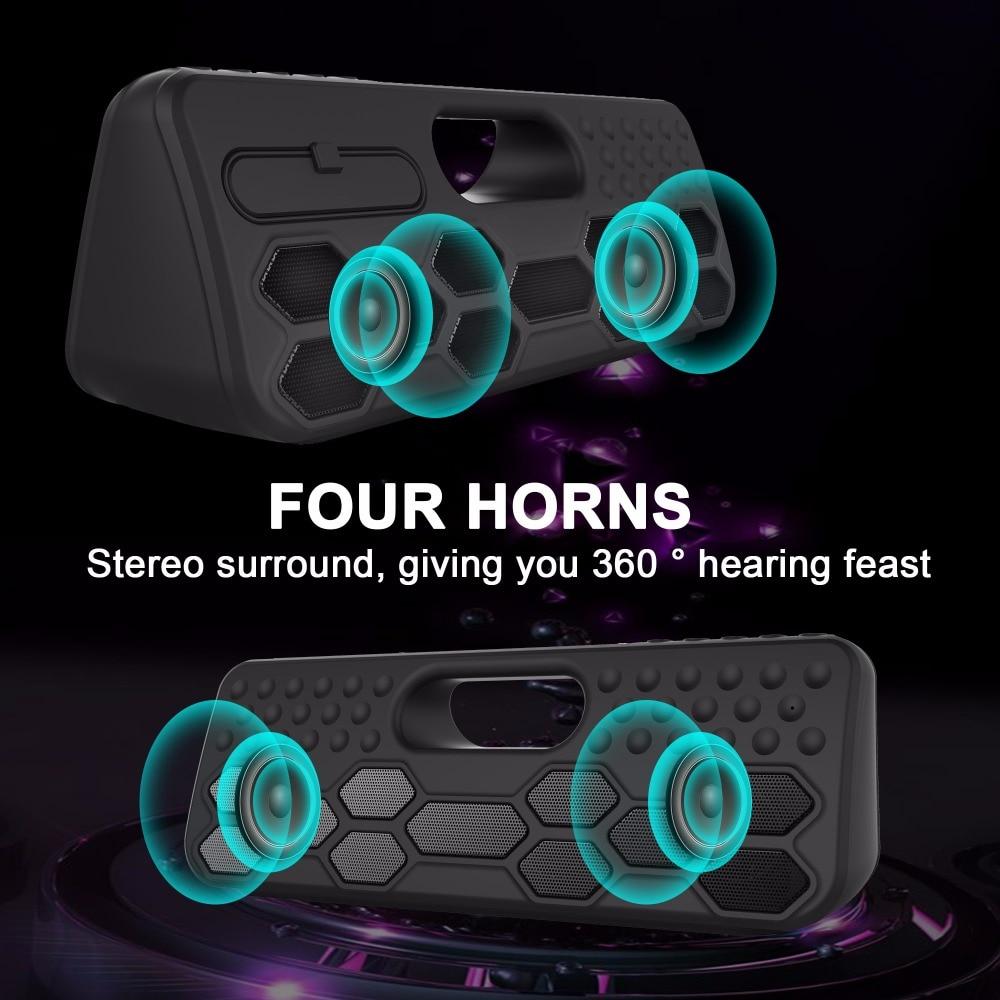 SVPRO Subwoofer Altoparlante del Bluetooth, Altoparlante Senza Fili Per La Casa Con TWS Più Forte Del Volume, Super Bass Speaker Esterna Impermeabile