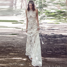 Wedding Dresses Boho Robe De Mariage 2019 Sleeveless Exquisite Lace Chic Dress Bridal Gowns