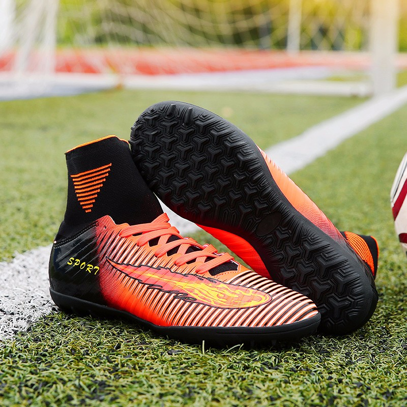 2017 High Quality Cheap Indoor Soccer Shoes Cleats High Ankle Kids Football Boots Superfly Original Boys Girls Sneakers10