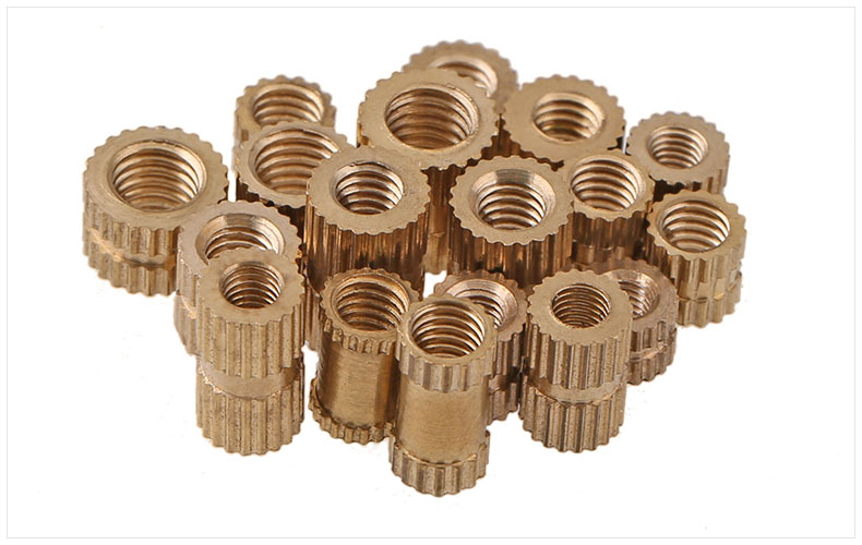 Injection molding machine nut brass copper insert M1.4 M1.6 M2 M2.5 M3 mut embedded copper knurled nut Embedded parts injection molding machine nut b type single blind copper insert m3 m4 m5 m6 m8 brass embedded copper knurled nut