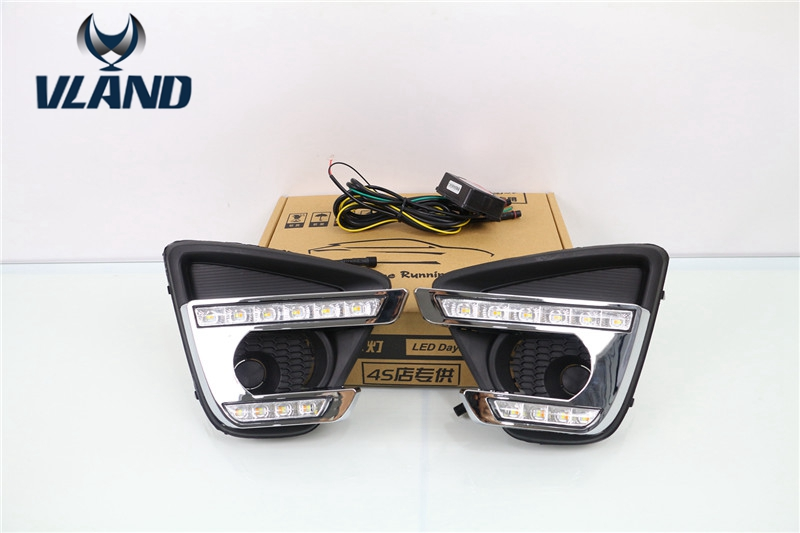 Free shippping for fog lamp For Mazda CX5 Driving DRL Daytime Running Light 2012~2016 with yellow turning light lyc 3 5  round fog lamp yellow for