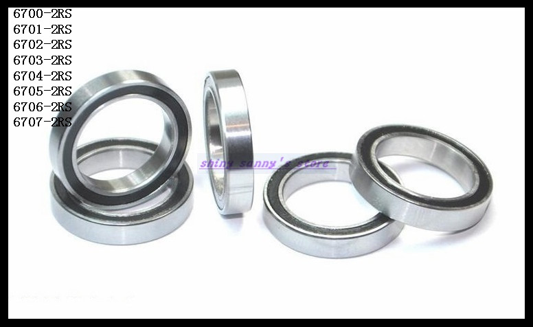 20pcs/Lot 6700-2RS 6700 RS 10x15x4mm The Rubber Sealing Cover Thin Wall Deep Groove Ball Bearing Miniature Bearing Brand New купить