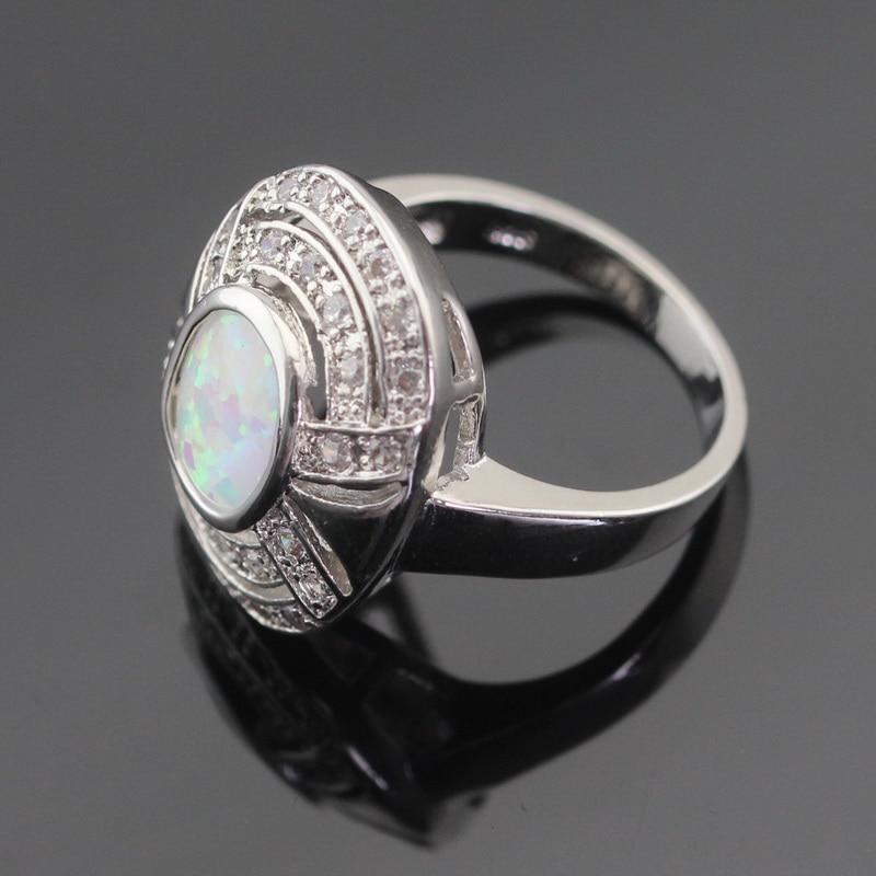 Australija Vatro bijela opal srebrna boja nakit setovi za žene - Modni nakit - Foto 6