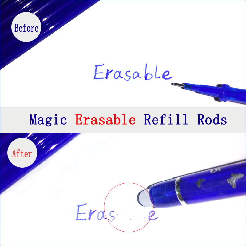 0 5mm 6pcs set Erasable Pen Blue Black Red Erasable Refill Ink Gel Pen 3 Colors Avaliable for Children 39 s Gift Office Student in Gel Pens from Office amp School Supplies