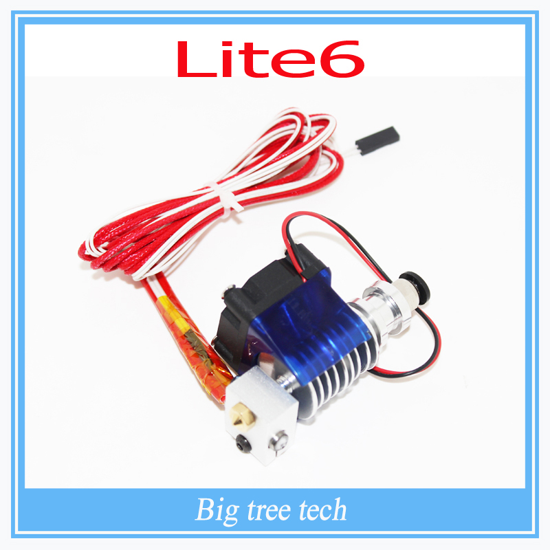 3D printer Lite6 Full Kit - 1.75mm Universal  12v or 24v 1.75mm/ 0.3mm/0.4mm/0.5mm remote Filament extruder nozzle with FAN