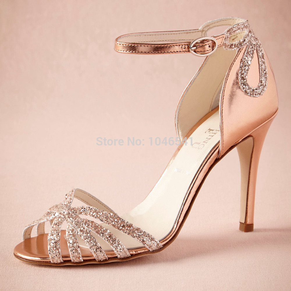 Gold High Heel Bridesmaid Name Champagne Party Wedding: Online Buy Wholesale Champagne Sandal From China Champagne