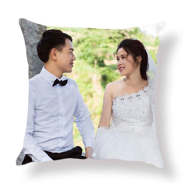 CUSCOV-housse de coussin pour maison | 2018, modèle bricolage, photos de vie personnelle de mariage en pet, personnalisé, taie doreiller cadeau