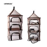 UFRIDAY Campaing Travel Organizer Four Shelf Hanging Storage Basket Net Sorting Bag Organizador Picnic Lunch Outdoor